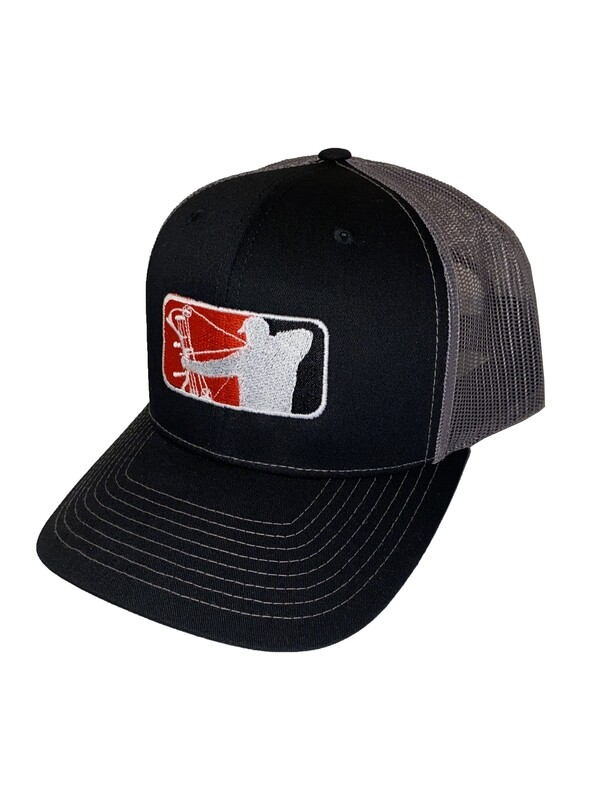 Black Richardson Hat w/ Red Logo