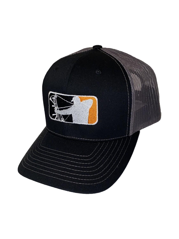 Black Richardson Hat w/ Orange Logo