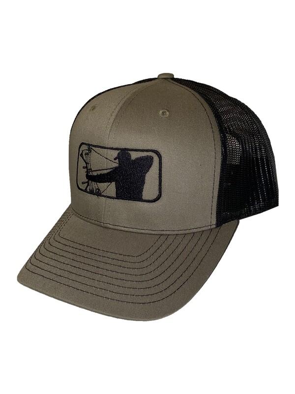 Military Green Richardson Hat w/ Black Logo