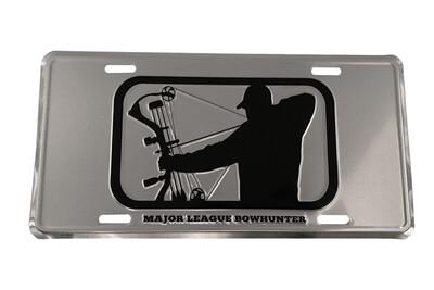 Chrome/Black License Plate
