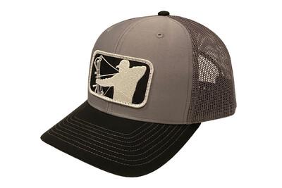 Grey Richardson Hat w/ Black/White Patch Logo