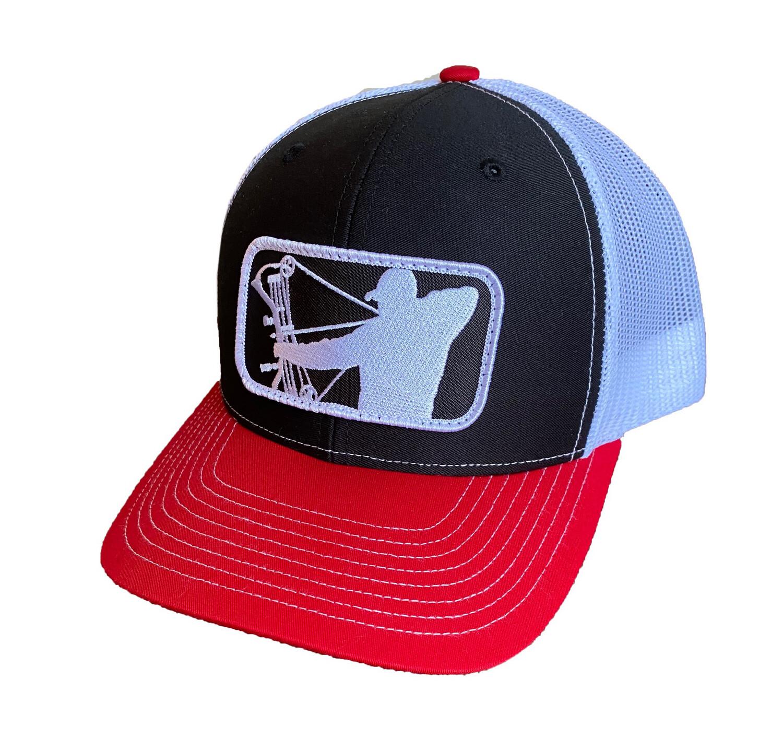 Red/Black/White Richardson Hat