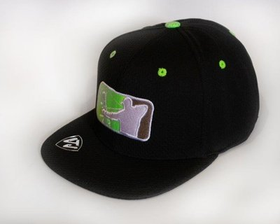 Black/Lime Green Flatbill Hat