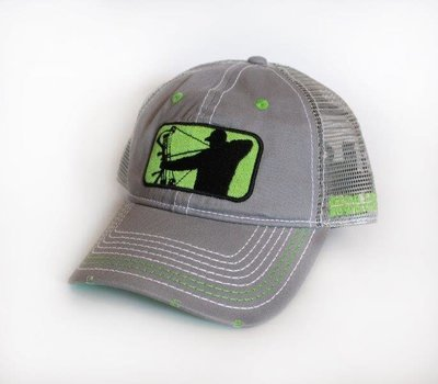 Lime/Grey Mesh Adjustable Hat