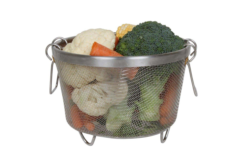 Chiboz Cookware Instant Pressure Cooker Steamer Basket - Pot in Pot Accessories Compatible with Instant Pot (6 Qt)