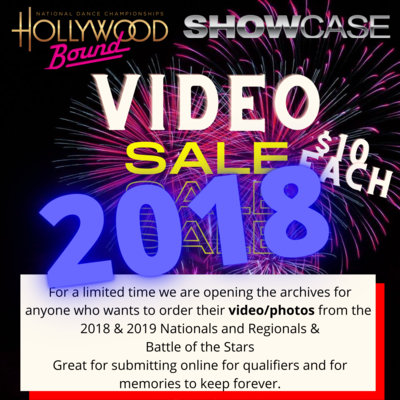 Video orders 2018 events only