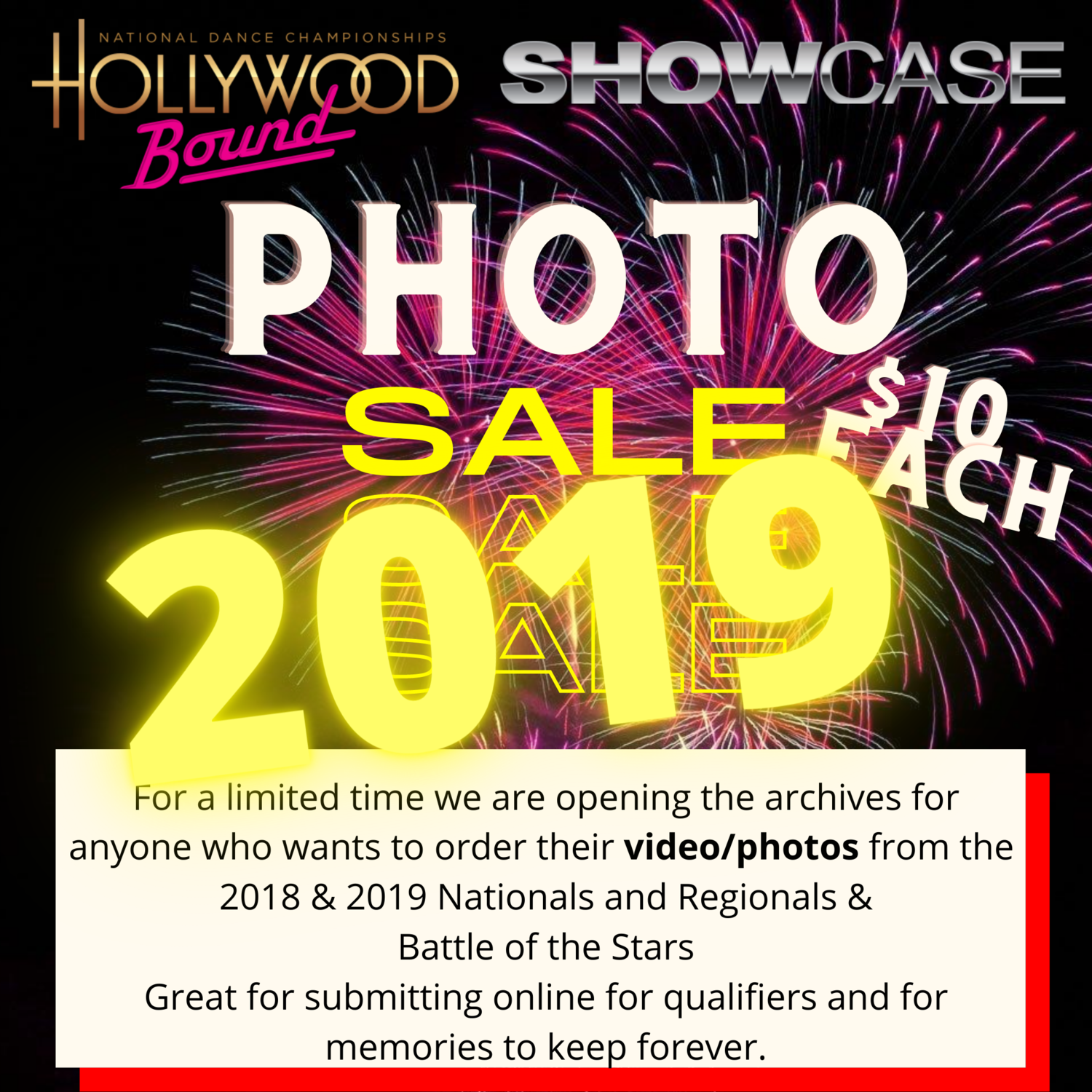 Photo orders 2019 events only