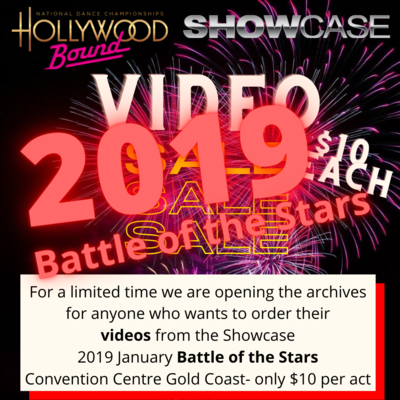 Video orders 2019 Showcase Battle of the Stars, CONVENTION CENTRE GOLD COAST