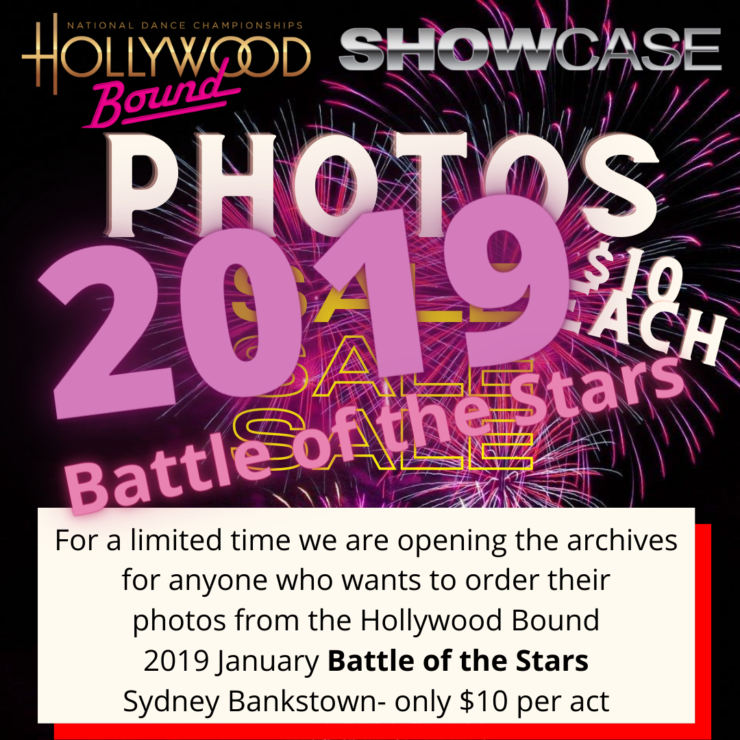 Photo orders 2019 Hollywood Bound Battle of the Stars, Bankstown Sydney
