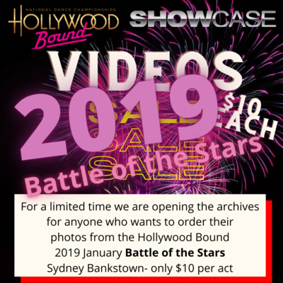 Video orders 2019 Hollywood Bound Battle of the Stars, Bankstown Sydney