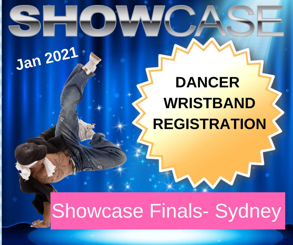 Dancer Registration (wrist bands) Showcase Finals January 2021