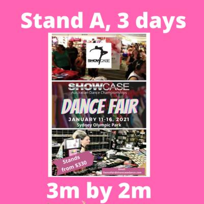 Showcase Dance Fair stand