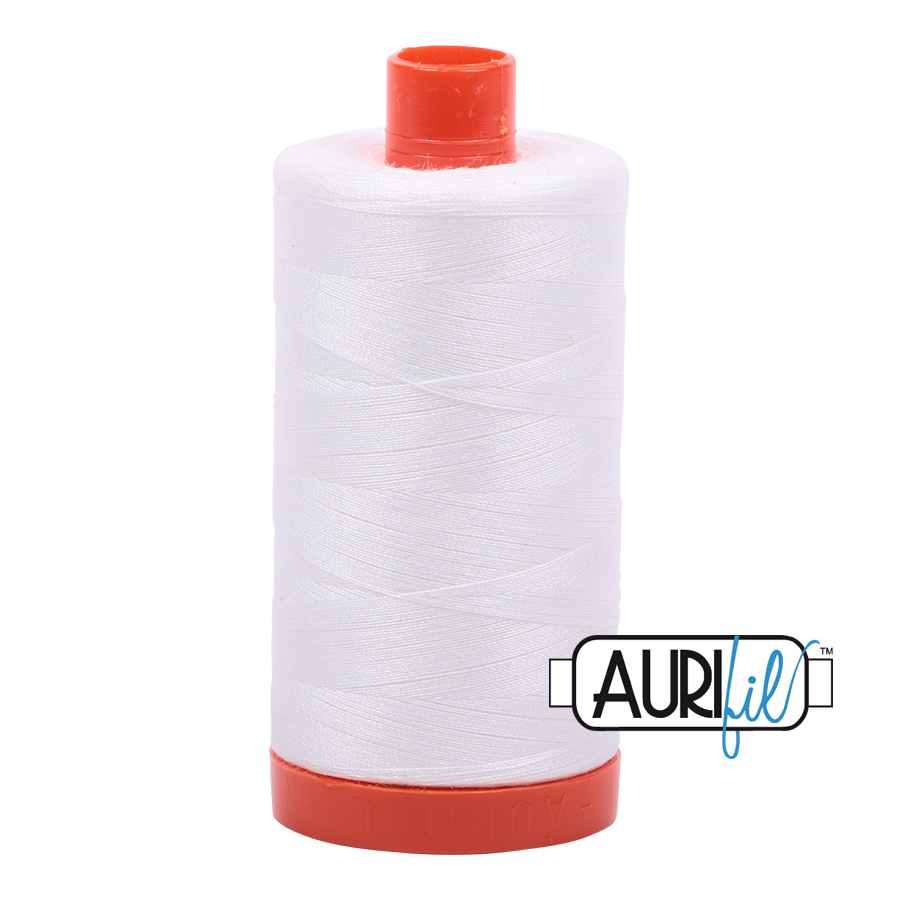 Col. #2021 Natural White- Aurifil 50 weight