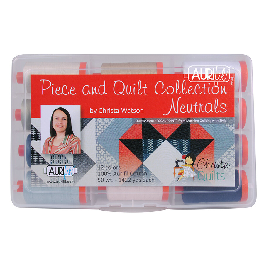 Piece and Quilt Aurifil Thread Collection, Neutrals Kit