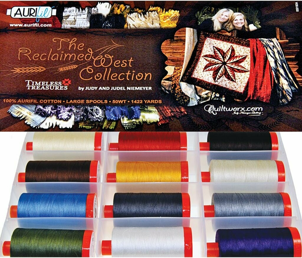 The Reclaimed West Collection Aurifil Kit