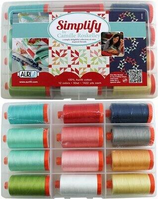 Simplify Aurifil 50wt 12 spool Kit