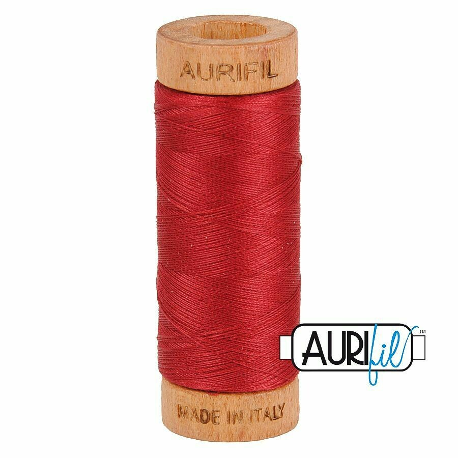 Col. #1103 Burgundy - Aurifil 80 Weight