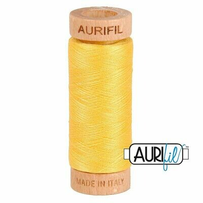 Col. #1135 Pale Yellow - Aurifil 80 Weight