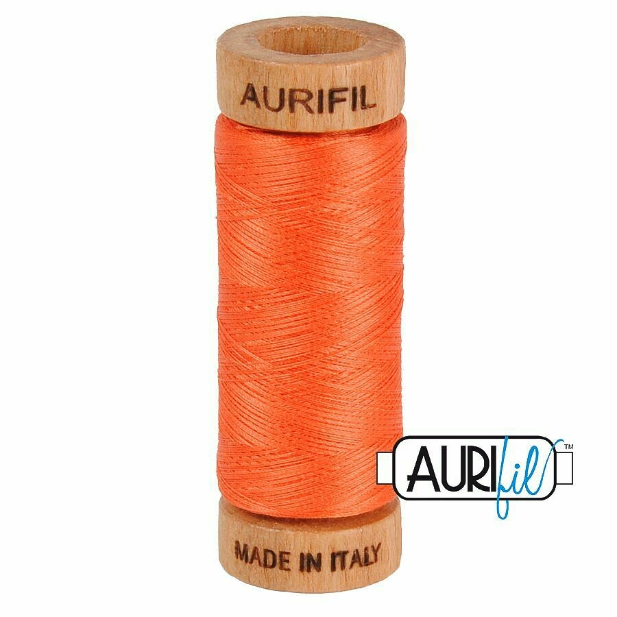 Col. #1154 Dusty Orange - Aurifil 80 Weight