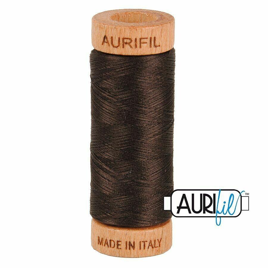 Col. #1130 Very Dark Bark - Aurifil 80 Weight
