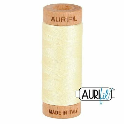 Col. #2110 Light Lemon - Aurifil 80 Weight