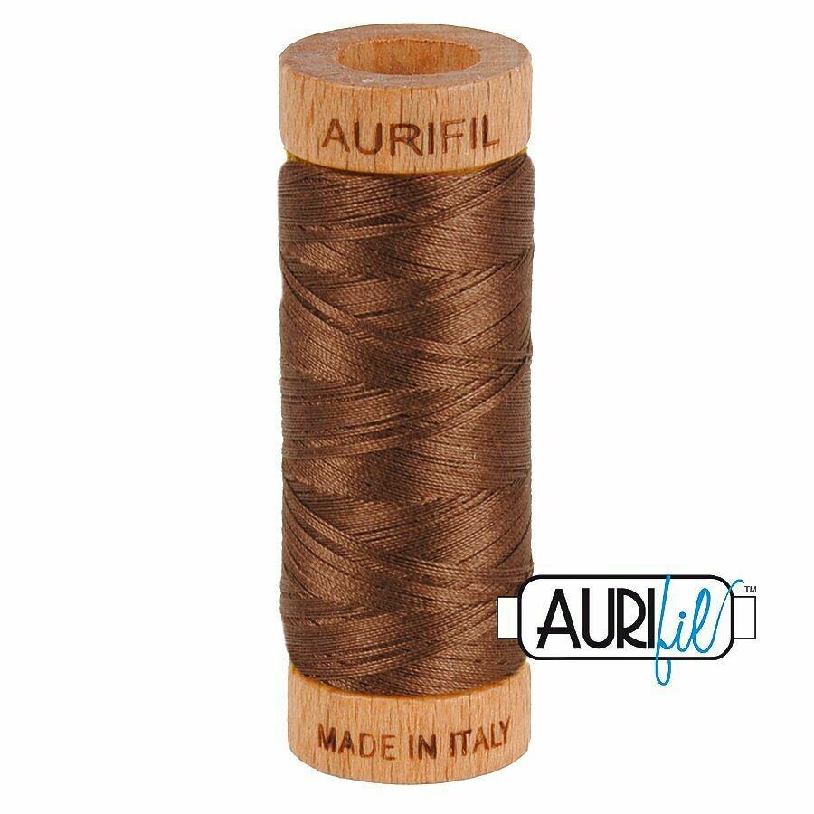 Col. #1285 Medium Bark - Aurifil 80 Weight