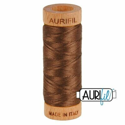 Col. #1285 Medium Bark - Aurifil 80 Weight