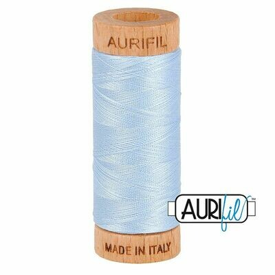 Col. #2710 Light Robins Egg - Aurifil 80 Weight