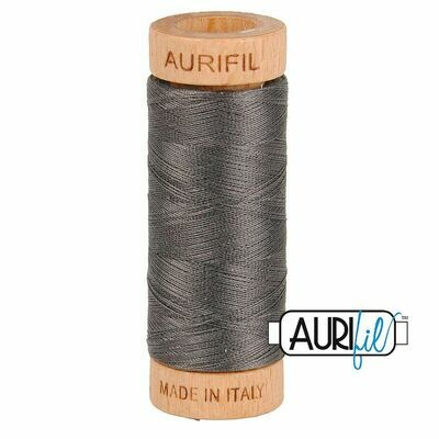 Col. #2630 Dark Pewter - Aurifil 80 Weight