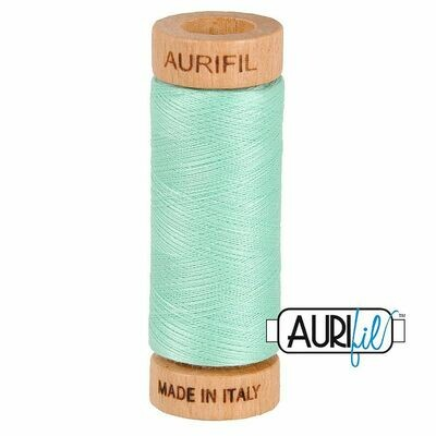 Col. #2835 Medium Mint - Aurifil 80 Weight
