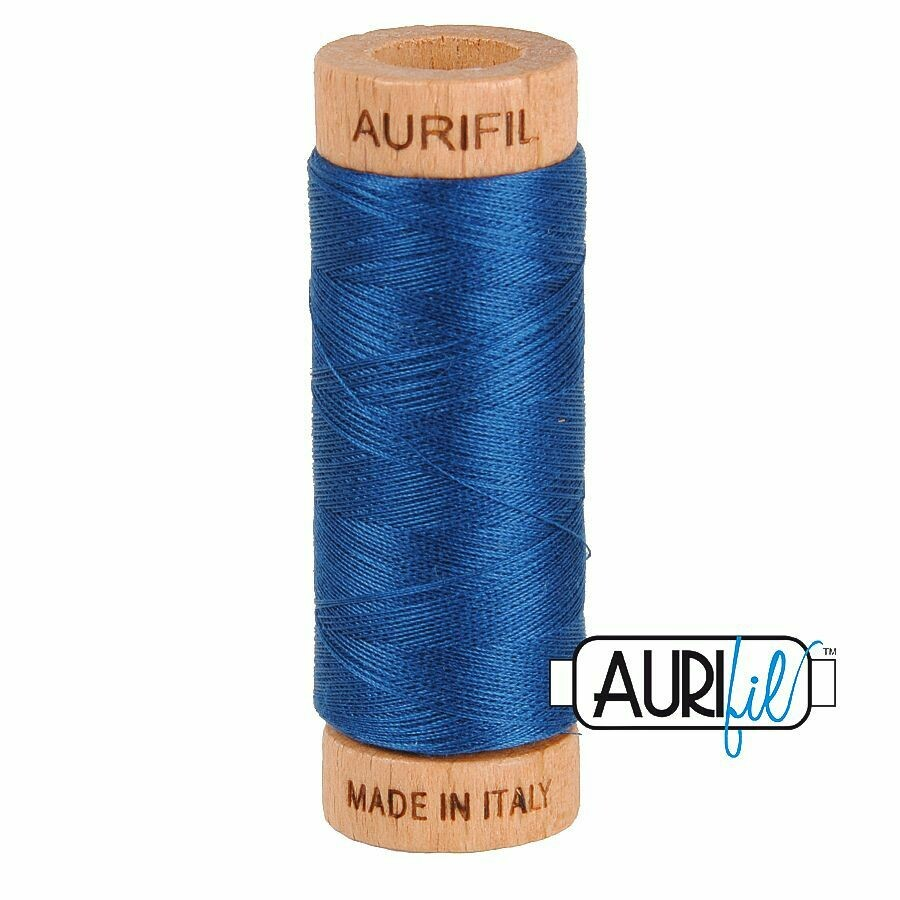 Col. #2783 Medium Delft Blue - Aurifil 80 Weight