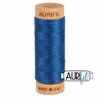 Col. #2783 Medium Delft Blue - Aurifil 80 Weight