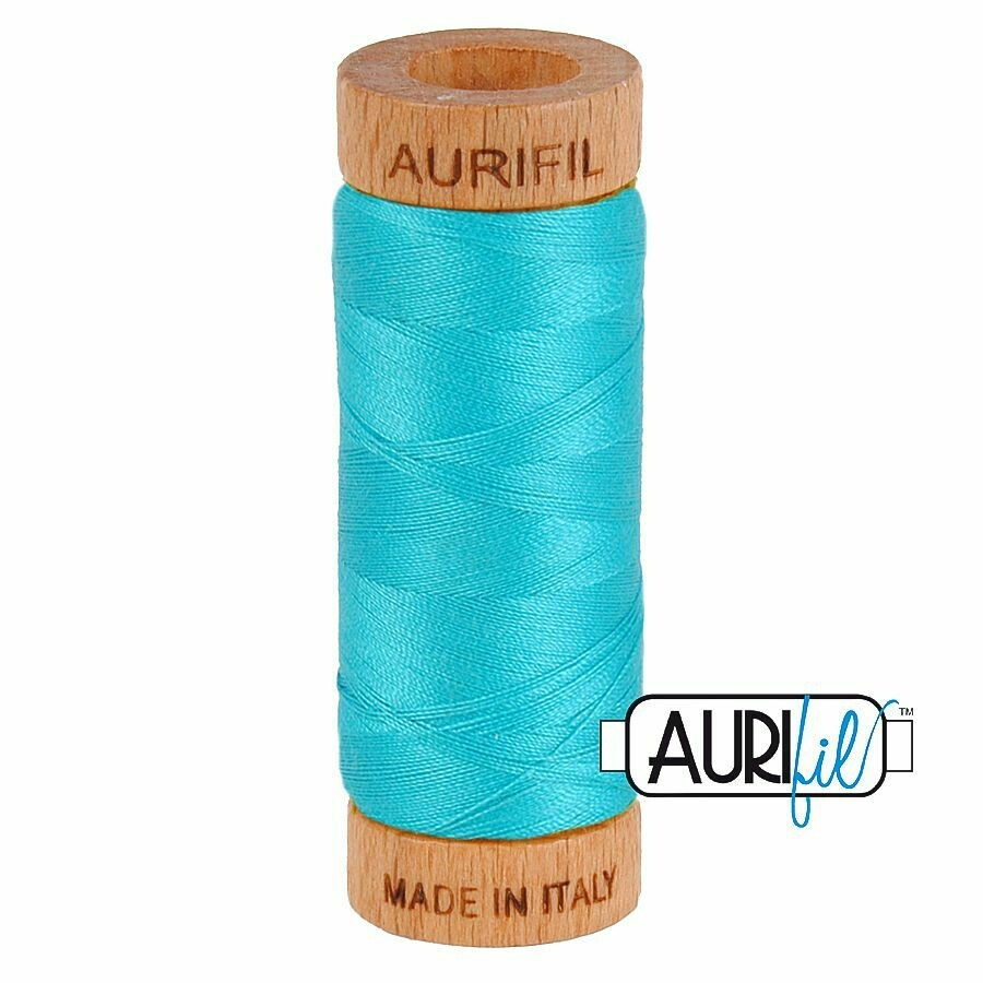 Col. #2810 Turquoise - Aurifil 80 Weight