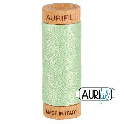 Col. #2880 Pale Green - Aurifil 80 Weight