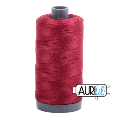 Col. #1103 Burgundy - Aurifil 28 Weight