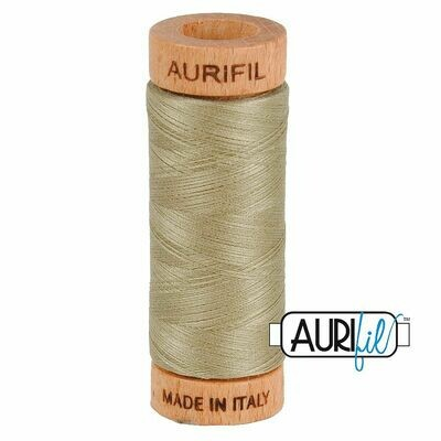 Col. #2900 Light Khaki Green - Aurifil 80 Weight