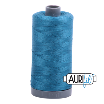 Col. #1125 Medium Teal - Aurifil 28 Weight