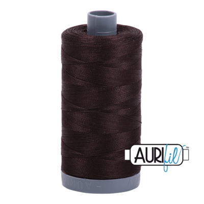 Col. #1130 Very Dark Bark - Aurifil 28 Weight