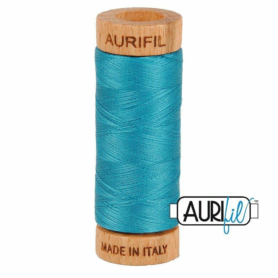 Col. #4182 Dark Turquoise - Aurifil 80 Weight