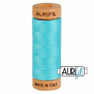 Col. #5005 Bright Turquoise - Aurifil 80 Weight
