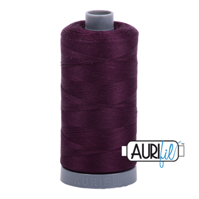 Col. #1240 Very Dark Eggplant - Aurifil 28 Weight
