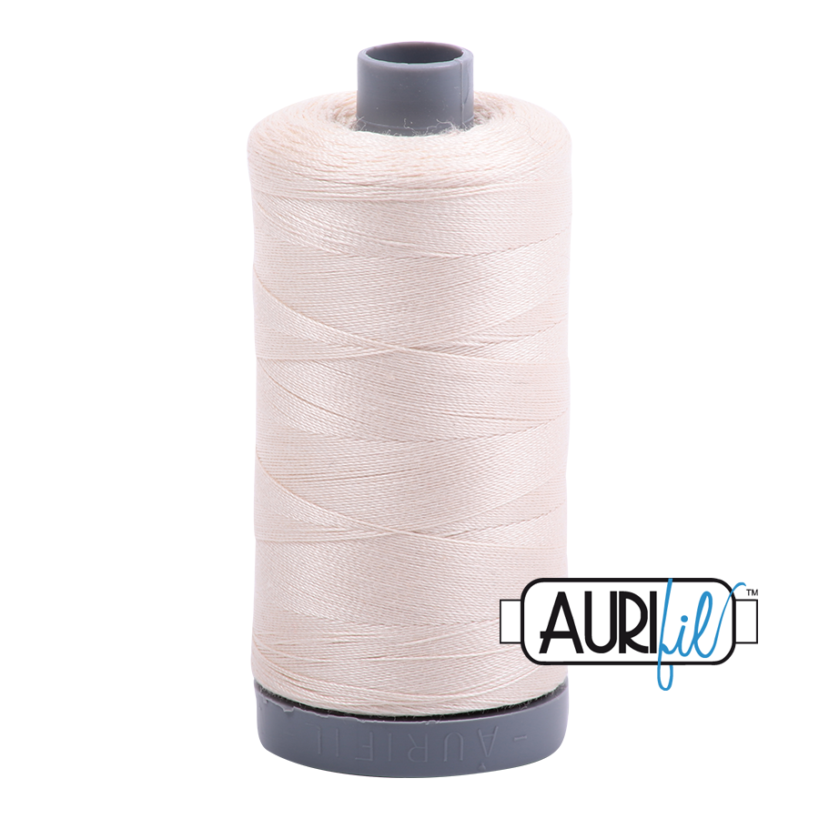 Col. #2000 Light Sand - Aurifil 28 Weight
