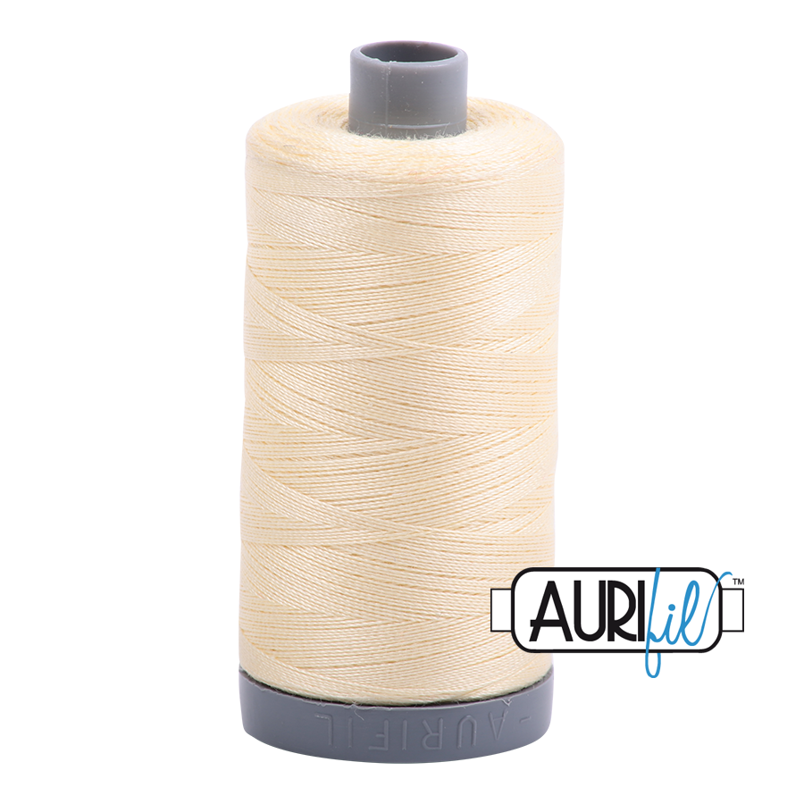 Col. #2110 Light Lemon - Aurifil 28 Weight