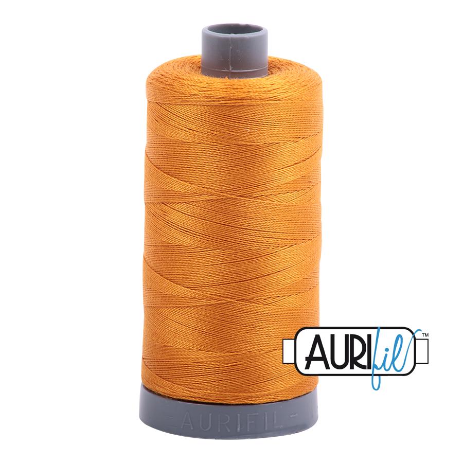 Col. #2140 Orange Mustard - Aurifil 28 Weight
