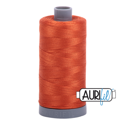 Col. #2240 Rusty Orange - Aurifil 28 Weight