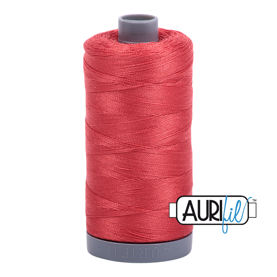 Col. #2255 Dark Red Orange - Aurifil 28 Weight