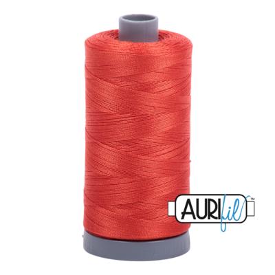 Col. #2245 Red Orange - Aurifil 28 Weight