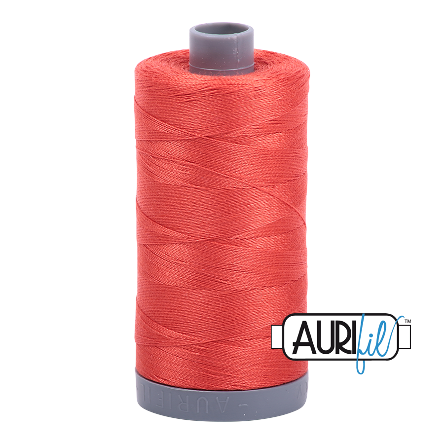 Col. #2277 Light Red Orange - Aurifil 28 Weight