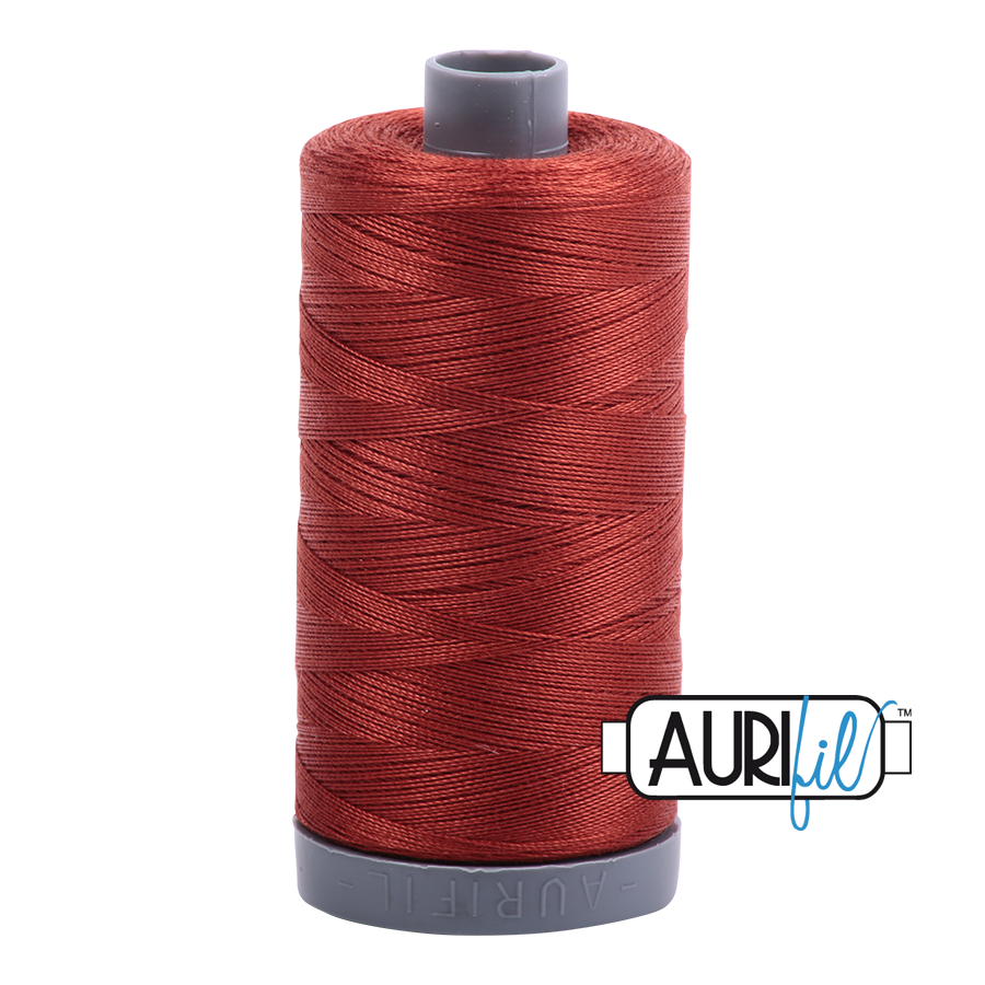 Col. #2385 Terracotta - Aurifil 28 Weight