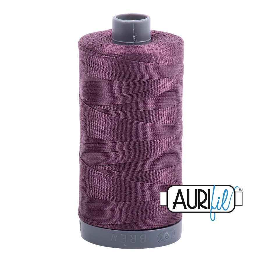 Col. #2568 Mulberry - Aurifil 28 Weight